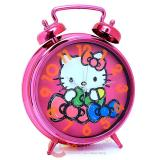 Sanrio Hello Kitty Bell Alarm Clock Wall Clock Watch Pink Bow - 13in