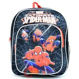 "Marvel Ultimate SpiderMan School Toddler Backpack 10"" Small Sling Web Black"