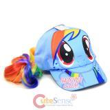 My Little Pony Rainbow Dash Girls Baseball Cap with Hair Wig