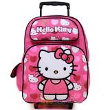 Sanrio Hello Kitty School Roller Backpack Large 16in Bag  :Hearts All Over Pink