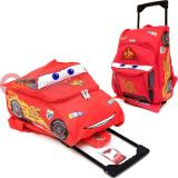 "Disney Cars Mcqueen Roller Backpack 12"" Medium Bag -3D Shape"