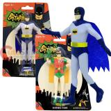 DC Comic Batman and Robin PVC Toy Benable Poseable 6in Toy Set