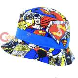 DC Comic Super Man Comic Prints All Over Kids Bucket Hat