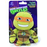 TMNT Ninja Turtles Michelangelo Plush Doll Key Chain with Sound