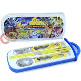 Nintendo Pokemon Silverware Set Spoon Fork chopstick 4pc set