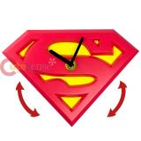 DC Comics Superman Logo Wobble Clock Wall Clock