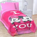 "Disney Mickey Minnie Mouse Raschel Plush Blanket -Oversize 62""x90"""