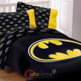 DC Comic Batman Reversible Queen Bedding Comforter Set with Pillow Case
