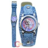 Disney Frozen Elsa Wrist WatchS parkle Blue