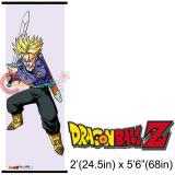 Dragon Ball Z Trunks Long Wall  Scroll Oversize Fabric Poster (GE5397): 5.6Ft