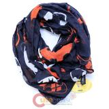 DC Comics Batman Harley Quinn Logo All Over Print Infinity Viscose Scarf