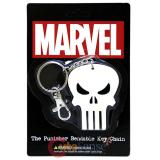 Marvel The Punisher Key Chain PVC Skull Logo Benable Key Holder