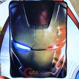 Marvel Avengers Iron Man Face Fleece Blanket  Microfiber Plush Throw (45 x60 )