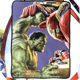 Marvel Avengers Hulk Fight Iron Man Fleece Blanket  Microfiber Plush Throw (45 x60 )