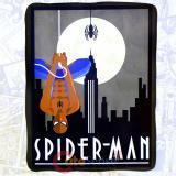 Marvel Spiderman Hang Fleece Blanket Microfiber Plush Throw (45 x60 )