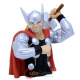 Marvel Hero Thor Bust Figure Coin Bank -Silver Suit
