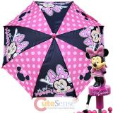 Disney Minnie Mouse Kids Umbrella Oh So Minnie with 3D Figure Handle