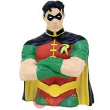 DC Comics Batman Robin Bust Figure Coin Bank