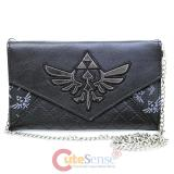 Nintendo The Legend Of Zelda Quitled Envelope Wallet with Shoulder Chain