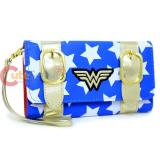 DC Comics Wonder Woman Satchel Fold Wallet with Wrist Strap