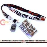 Walking Dead Lanyard with Gog Tag  Keychain  ID Holder