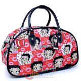 Betty Boop Cartoon Prints Duffle Bag Travel  Diaper Gym Bag - Half Shell