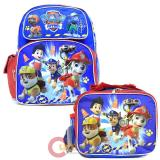 "Paw Patrol  12"" Small School Backpack Lunch Bag 2pc Set -Ready Action"