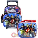 "Marvel Avengers Age of Ultron 12"" Small Roller Backpack with Lunch Bag 2pc Set"