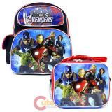 "Marvel Avengers Age of Ultron 12"" Small  School Backpack Lunch Bag 2pc Set"