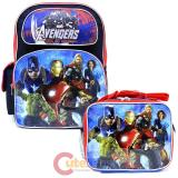 "Marvel Avengers Age of Ultron 16"" Large School  Backpack Lunch Bag 2pc Set"