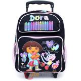 Dora The Explorer with Boots Roller Backpack -Crayon Black 12in