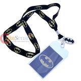 DC Comic Batman Lanyard , ID Holder with Gold Metal Emblem