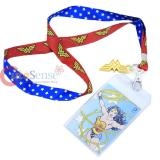 DC Comic Wonder WomanLanyard , ID Holder with Gold Metal Emblem