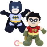 DC Comic Super Hero Batman & Robin Plush Doll Toy Set - Grey Batsuit
