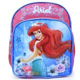 "Disney Little Mermaid Ariel School Backpack 10"" Toddler Bag Colorful Shell"
