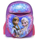 "Disney Frozen Large  School  Backpack Elsa Anna Olaf 16"" Bag - Snowflakes Hearts"