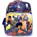 "Star Wars 7 Large School Backpack 16"" Boys Book Bag Rebel Fighters"