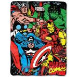Avengers Plush Throw Blanket  Micro Raschel 46 x 60 - Marvel Comics Assemble