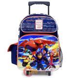 """Disney Big Hero 6  Large School Roller Backpack 16"""" Trolley Rolling Bag - city"""