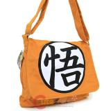 Dragon Ball Z Goku Symbol Messenger Bag Orange Canvas Body Cross Bag