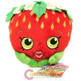 "Shopkins Strawberry Kiss Plush Doll 6"" Deluxe Toy New Season 1 Shopkin"