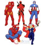 Marvel Comic Heroes Soft Touch PVC Magnet - 5pc Set