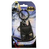 DC Comics Batman Key Chain  3D Black Rubber Mask Metal