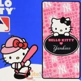 MBL Hello Kitty NY Yankees  Beach Bath Towel - Pink NY