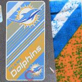 NFL Miami Dolphins  Beach  Towel  Bath Towel -Diagonal Logo