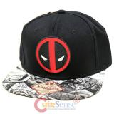 Marvel Deadpool Logo Sublimated Bill Hat Trucker Flat Bill Cap