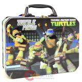 TMNT  Metal Ninja Turtles  Tin Box  Metal Lunch Toy Treasure Box