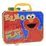 Sesame Street Elmo Tin Box  Metal Lunch Toy Treasure Box
