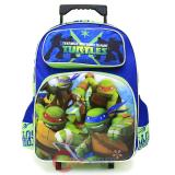 "TMNT Ninja Turtles  School Roller Backpack 16"" Large Rolling Bag-Tough Guys"