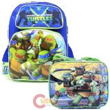 "TMNT  Ninja Turtles 16""  Large School Backpack Lunch Bag Set  -Tough Guys"